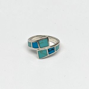 Sterling Silver and Turquoise Wrap Ring